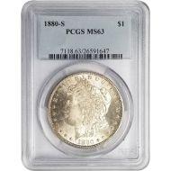 1880 S Morgan Dollar - PCGS MS 63