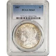 1887 Morgan Dollar - PCGS MS 65