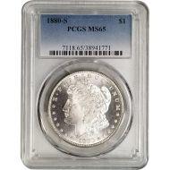 1880 S Morgan Dollar - PCGS MS 65