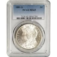 1881 S Morgan Dollar - PCGS MS 65