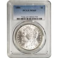 1886 Morgan Dollar - PCGS MS 65