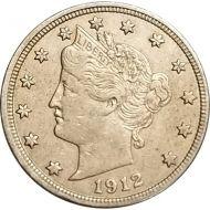 1912 Liberty Nickel - XF (Extra Fine)