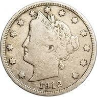 1912 D Liberty Nickel -  Fine (Fine)