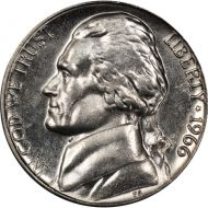 1966 Jefferson Nickel - Brilliant Uncirculated