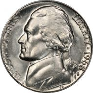 1968 S Jefferson Nickel - Brilliant Uncirculated