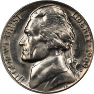 1969 D Jefferson Nickel - Brilliant Uncirculated