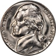 1969 S Jefferson Nickel - Brilliant Uncirculated