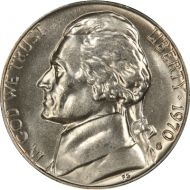 1970 S Jefferson Nickel - Brilliant Uncirculated