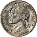 1972 Jefferson Nickel - Brilliant Uncirculated