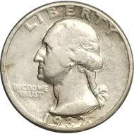 1932 D Washington Quarter - VF (Very Fine)