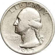 1932 S Washington Quarter - F (Fine)
