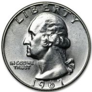 1967 Washington Quarter - Brilliant Uncirculated