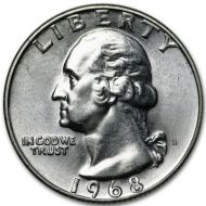 1968 D Washington Quarter - Brilliant Uncirculated