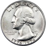 1976 S Washington Quarter - 40% Silver Business or Proof Strike - Impaired