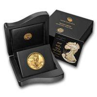 2016 W Walking Liberty Half Dollar Gold Centennial Commemorative Coin W OGP & COA