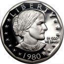 1980 Proof Susan B Anthony Dollar