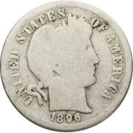 1896 O Barber Dime - AG (About Good)