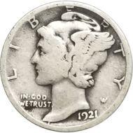 1921 D Mercury Dime - VG (Very Good)