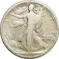 1916 Walking Liberty Half Dollar - VG Detail (Very Good) - Damaged